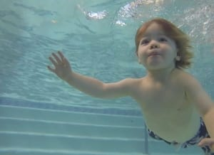 Her son with klinefelter syndrome swimming